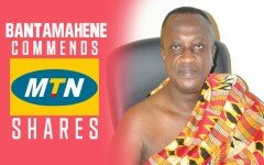 [Video]:Bantamahene commends MTN Ghana for supporting Ghana's development.